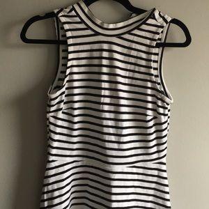 Black and White Striped Old Navy Skater Dress